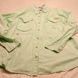 Light Green Columbia PFG breathable shirt/jacket